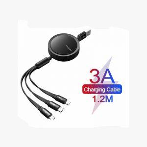 کابل شارژسه سر Mcdodo CA-725 3in1 Retractable Charging Cable 1.2M