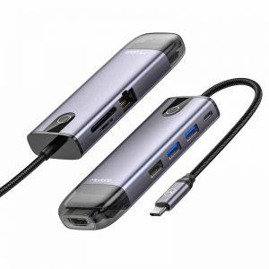 هاب شارژر تایپ سی چند منظوره مک دودو مدل HU-7730